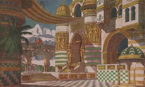 Chernomor's palace. Stage design for the opera Ruslan and Lyudmila by M. Glinka, 1900. Artist: Ivan Bilibin