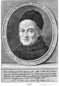 Giovanni Battista Martini (24 April 1706 - 3 August 1784). Also known as Padre Martini. Italian composer and music theorist, teacher of Wolfgang Amadeus Mozart.