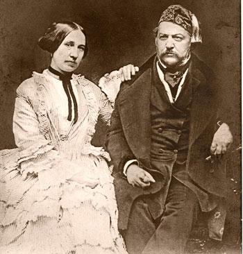 Mikhail Glinka and his wife Maria Petrovna Ivanova