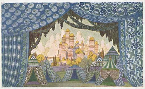 Naina's castle. Stage design for the opera Ruslan and Lyudmila by M. Glinka, 1900. Artist: Ivan Bilibin