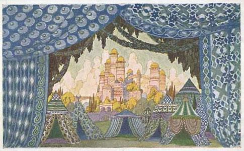 Naina's castle. Stage design for the opera Ruslan and Lyudmila by M. Glinka, 1900. Artist: Ivan Bilibin