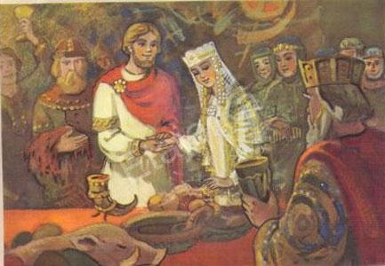 Ruslan and Lyudmila. Postcard, 1966.