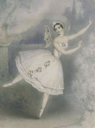 Ballerina Carlotta Grisi in the tite role of Adam's Giselle, Paris, 1841