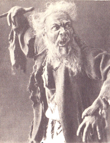 Fyodor Chaliapin (1873-1938), one of the most famous Russian bass singers of the 20th century. Chaliapin as the Miller in the opera RUSALKA by A. Dargomyzhsky.