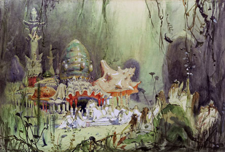 Underwater palace. Stage design for the opera RUSALKA by A. Dargomyzhsky, 1884. Artist: Viktor Vasnetsov