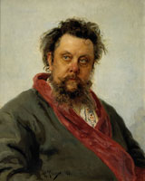 Portrait of M.P.Musorgsky, 1881. Artist: Ilya Repin