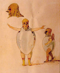 Sketch of Costumes for the Ballet Trilby by J. Gerber. Artist: Viktor Hartmann