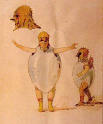 Sketch of Costumes for the Ballet Trilby by J. Gerber. Artist: Viktor Hartmann
