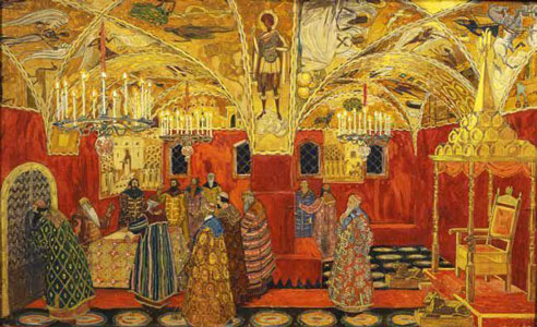 The Palace of the Facets. Stage design for the opera Boris Godunov by M. Mussorgsky