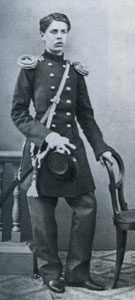Young Modest Mussorgsky as a cadet in the Preobrazhensky Regiment