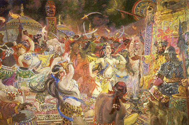 Polovtsian Dances. Artist: Alexander Gerasimov,1955.