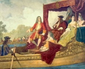 George Frideric Handel and King George I on the River Thames, 17 July 1717. Artist: Edouard Hamman