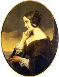 Countess Marie d'Agoult, 1843. Artist: Henri Lehmann