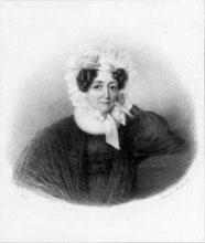 Franz Liszt's mother, Anna Maria Läger. Artist: Julius Ludwig Sebbers