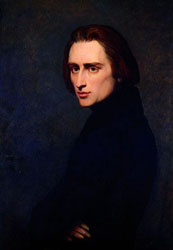 Portrait of Franz Liszt, 1837. Artist: Ary Scheffer