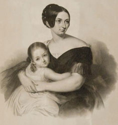 Princess Carolyne Sayn-Wittgenstein with her daughter, Marie Pauline Antoinette