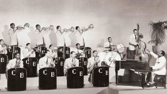 The Count Basie Orchestra around the 1930s-40s