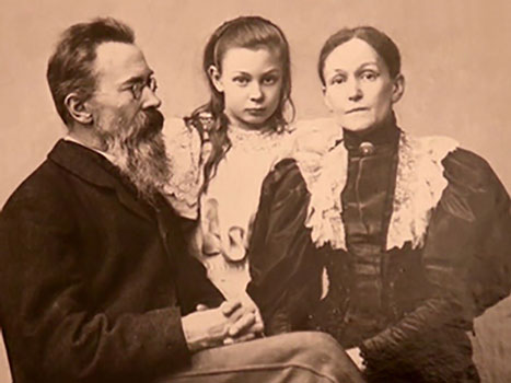 Nikolai Rimsky-Korsakov with his family