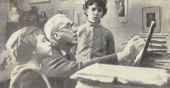 Dmitry Kabalevsky with his pupils