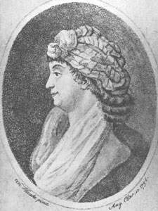 Portrait of Josefína Dušková (Josepha Duschkova) (1754–1824), an outstanding soprano of the Classical era. František Xaver Dušek's wife.