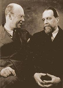 Nikolai Myaskovsky with Sergei Prokofiev