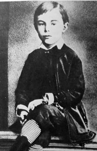 A picture of young Alexander Scriabin, late 1870s