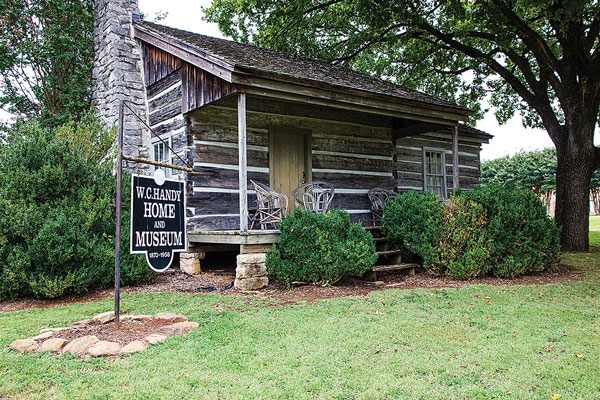 A small log cabin in Florence, the birthplace of W.C. Handy