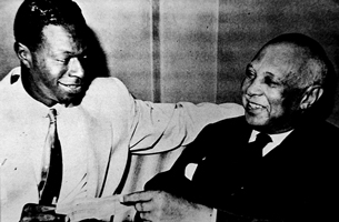 Jazz crooner Nat King Cole and W. C. Handy.