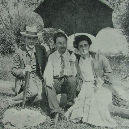Leonid Sabaneev, Alexander Scriabin and Tatyana Schlözer, summer 1912