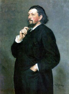 The Portrait of Mitrofan Petrovich Belyaev. Artist: Ilya Repin, 1886