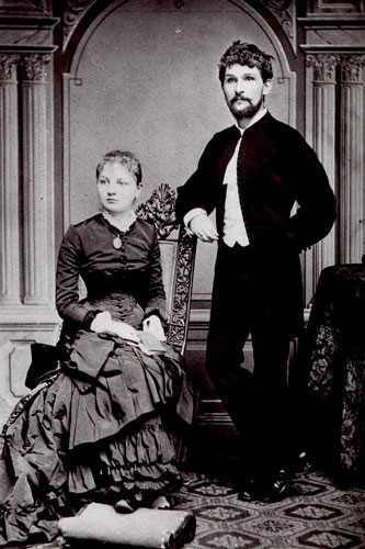 Janáček with his wife Zdenka, in 1881