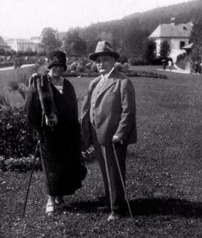 Leoš Janáček and Kamila Stösslová in Luhačovice