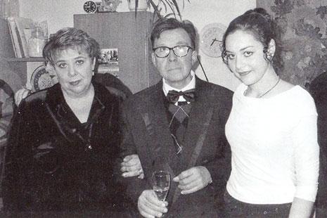 Composer's daughter Tamara Shamo, son Yuri Shamo and granddaughter Iryna Borodyanska