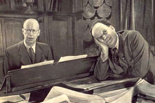 Prokofiev and Eisenstein working on the production of Alexander Nevsky
