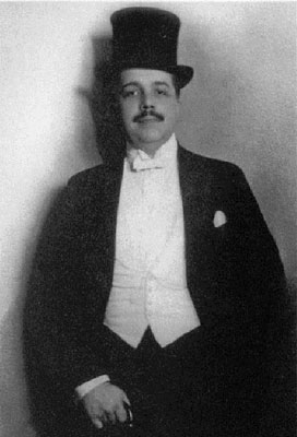 Sergei Diaghilev, founder of the Ballets Russes, New York, 1916