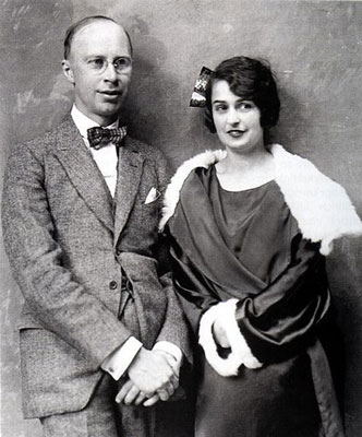 Sergei Prokofiev and Carolina Codina