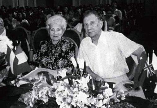 Andrei Eshpai and his wife Alexandra